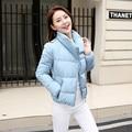 New Wadded Winter Jacket Women Cotton Short Jacket Plus Size 2016 fashion Girls Padded Slim Hooded winter Parkas Female Coat