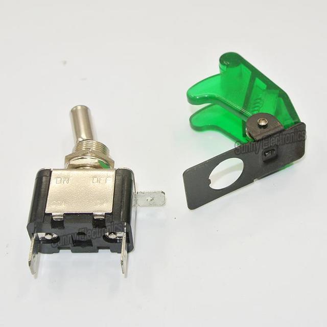 1PCS 12V 20A Cover LED Light Rocker Toggle Switch SPST ON/OFF Car Truck