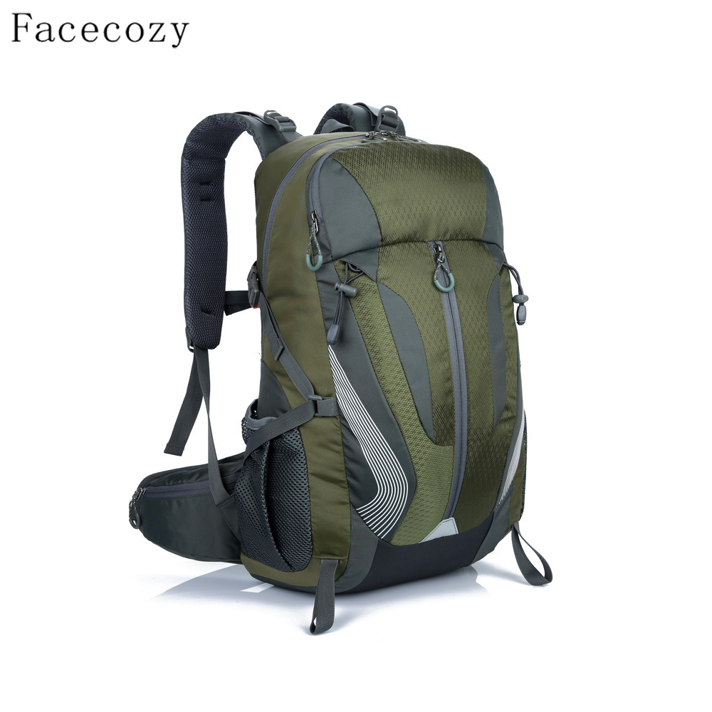 Facecozy Quality Outdoor Camping Backpack 40L Big Capacity Trekking Travel Kit Bag Waterproof Scratch-Resistant Sports Backpack facecozy outdoor hunting travel waterproof backpack men