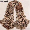 2016 mulheres quentes cachecol de inverno leopardo moda estilo lenço de seda de veludo polka cachecol chiffon Bohemia Scarf Min. Order é $5