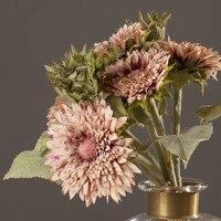America Rustic Style Fake Flowers Super Beautiful 1 Bouqeut Sunflowers Decorative Artificial Flowers Home Table Decor