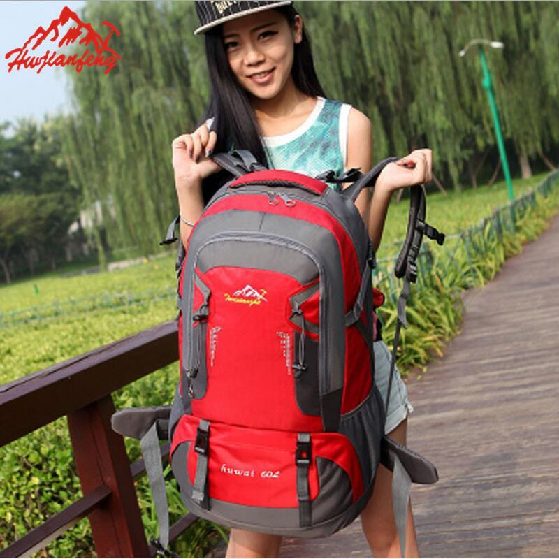 Outdoor travel bag backpack shoulders camping  Walking and hiking mountaineering bag 60L 6color rucksack woodland camo unisex tactical assault backpack camping travel bag multicam combination mountaineering shoulders backpack