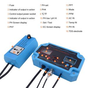 Image 2 - yieryi 3 in 1 pH/TDS/TEMP Water Quality Detector pH Controller with Electrode BNC Type Probe Water Quality Tester for Aquarium