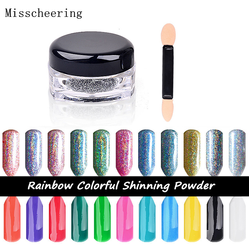Neue 2 Gr/schachtel Spiegel Pulver Laser Silber Pigment Pulver Chrom Pigment Regenbogen Shiny Nail Glitters Nail Art Pailletten Gute QualitäT Schönheit & Gesundheit Nagelglitzer