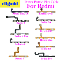 cltgxdd 1 PC Volume Button Power Switch On Off Button Flex Cable Replacement For Xiaomi Redmi 3S 4X 4A 5 Plus 5A 6 6A 6 PRO S2