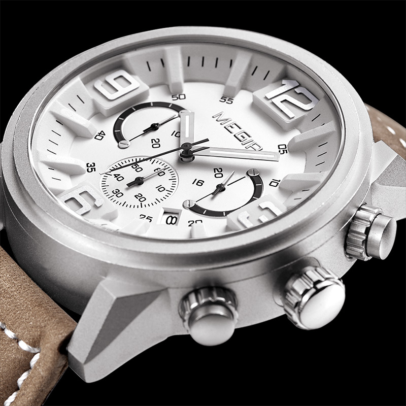 online get cheap mens large watches aliexpress com alibaba group 2017 megir large watches men luxury brand hot chronograph watch men clock man military male sports