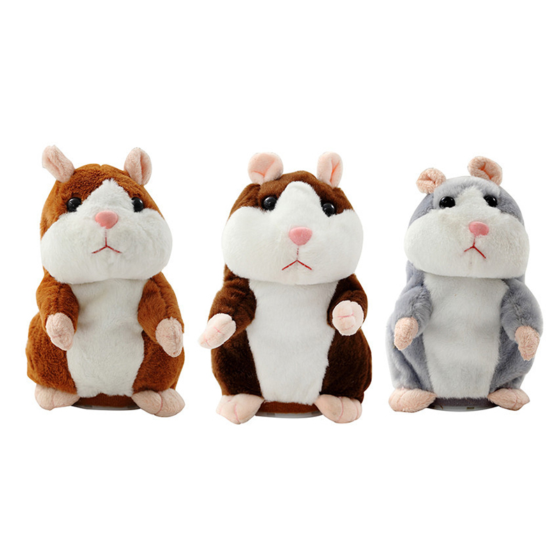 Electronic Talking Hamster Plush Toys Best Early Educational Toy Christmas Gift Speaking Sound Stuffed Electric Pets W0010