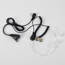 HYS walkie talkie Earphone Shigh Quality Transparent Tube Earpiece PTT For Portable Two Way Radio Headset TC-801S