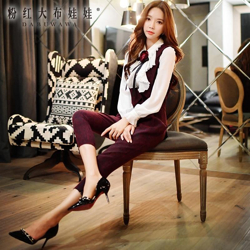 original siamese pants female fall 2016 fashion OL slim fashion vintage jumpsuits women wholesale