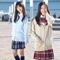 Японская Школа Jk форма кардиган верхняя одежда свитер 100% хлопок вязать матрос с длинными рукавами пальто 9 цвет Косплей девушка равномерное