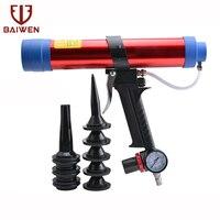 15 inches 250ml/600ml Pneumatic air glass glue guns with Pistons Glass Glue Air Rubber Guns Tool Caulking Glass Silicone Tools