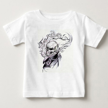 Kids Ghost Rider Cool Inspired By Movie Cartoon Fashion T Shirt Summer Short Sleeve O Neck Harajuku Swag White Children T-shirt