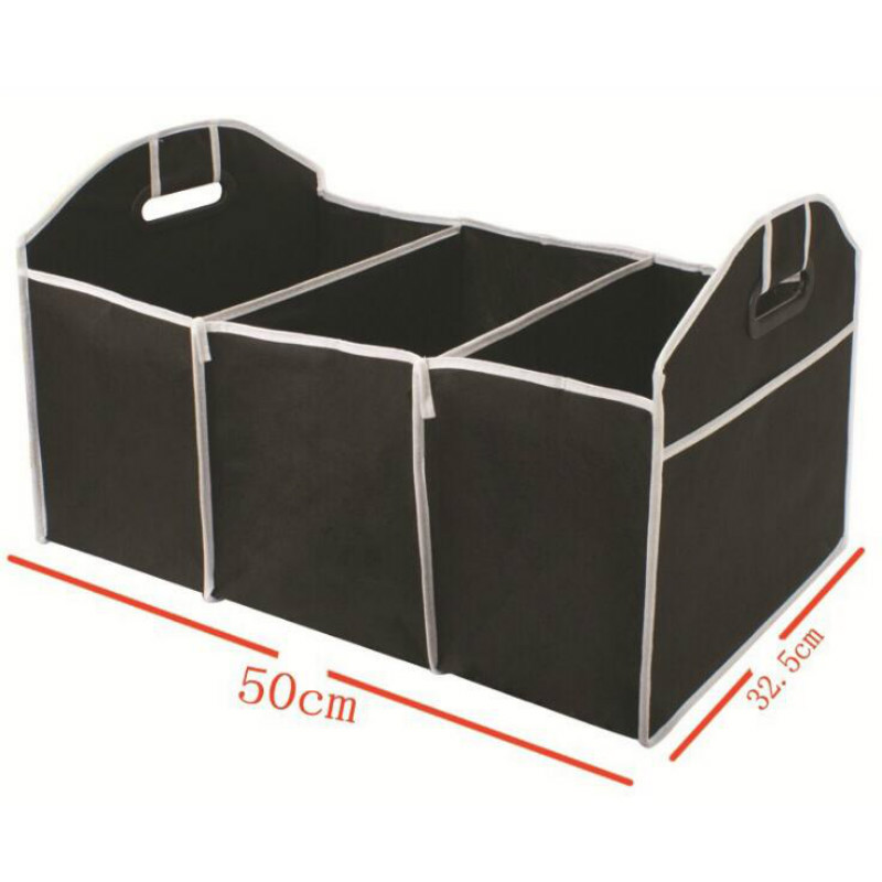 Автомобильный многокарманный органайзер для багажника, Большая вместительная складная сумка для хранения, органайзер для багажника, автомобильные аксессуары