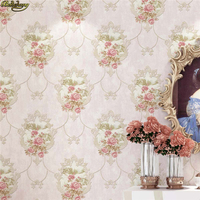 beibehang European luxury garden mirror flowers Non woven Flocking wall papers home decor 3D Embossed Wallpaper For Living Room