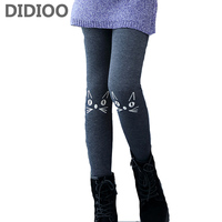 Winter Leggings For Girls Cartoon Cats Trousers Child Cashmere Leggings 8 10 12 14 Years Teenage