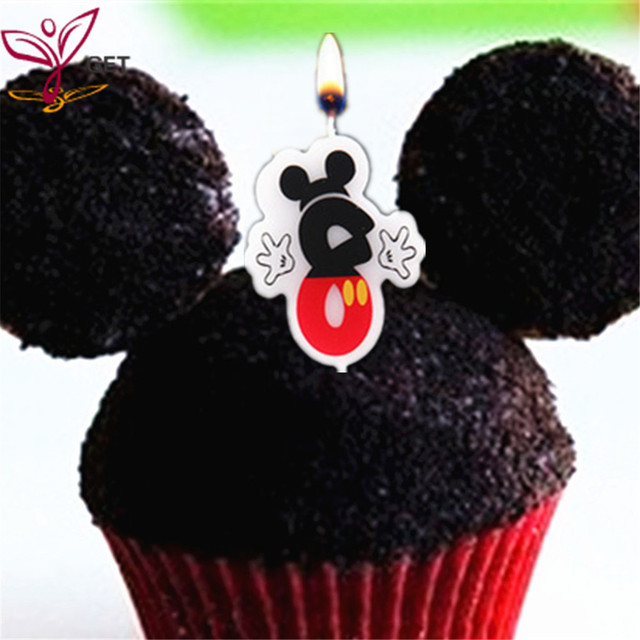 Birthday Cake Candle Party Supplies Anniversary Mickey Mouse Number 8 Age Baby Shower