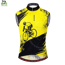 WOSAWE Sleeveless Reflective Cycling Vest Racing Bicycle Clothing MTB Bike Clothes Hombre Maillot Ciclismo Jersey