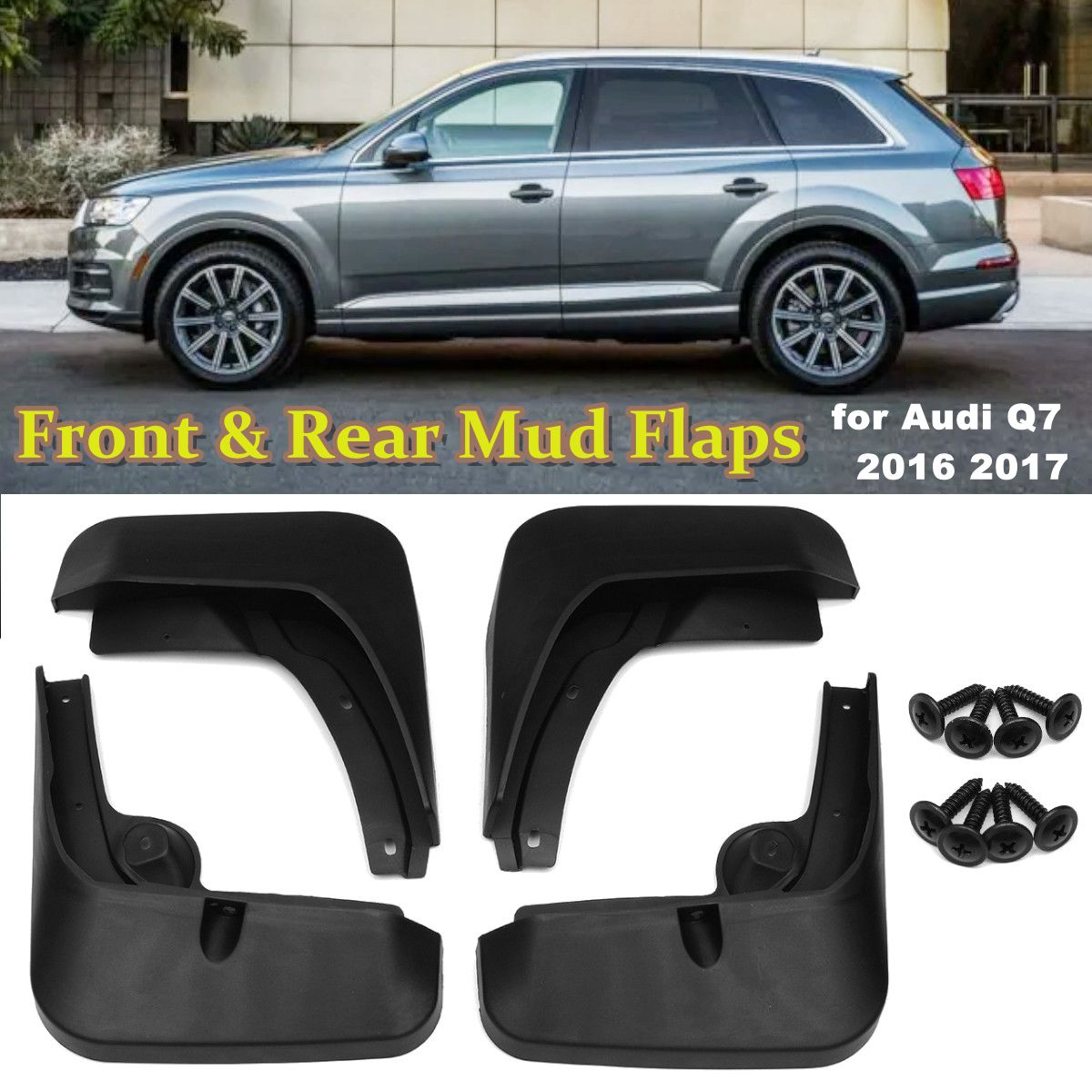 Front Rear Mud Flaps for Audi Q7 2016 2017 Car Fender Mudguards Splash Guards Mudflaps Accessories