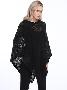 Pullovers Sweaters Cardigan Poncho Bikini Cover-Up Sexy Hollow-Out Plus-Size Fashion
