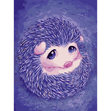 The hedgehog Diy painting by numbers hand painted canvas oil paintings coloring by numbers canvas art decoration