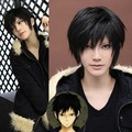 Cosplay Wig For DuRaRaRa!! DRRR!!,Izaya Orihara Costume Men Male Short Black Heat Resistant Synthetic Hair Wigs Peruca Pelucas