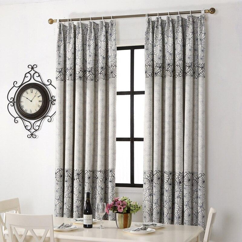 floral corto cortinas para la ventana de la cocina decoracin nios habitacin cortinas ojales impresa solo