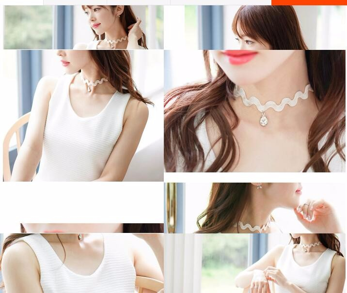 Water Drop Clavicle Choker Necklace For Women Chain Jewelry