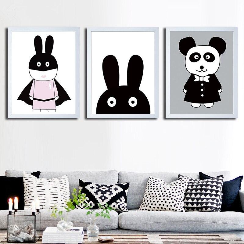 Leinwand Wand Bilder Moderne Cartoon Hütte Gelbe Katze Kinder Room Home Dekoration Hand Zeichnen Tiere Kunstdruck Malerei Poster