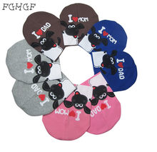 6d7daa1aabb 2017 fashion winter baby hats knitted warm cotton toddler beanie baby girl  boy I LOVE PAPA MAMA print kids cap for 1-3 years old