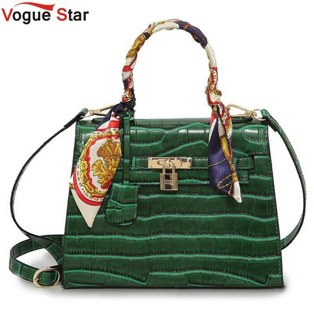 Women's Alligator PU Leather Handbag