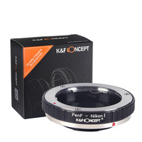 K&F CONCEPT Adapter Ring for Olympus Pen F Mount Lens Adapter to Nikon 1 mount J1 J2 V1 V2 Camera Adapter Ring Tube Lens