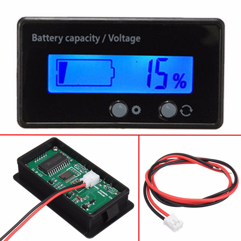 Universal LCD Indicator Car Battery Capacity Voltmeter Tester Lead-acid Digital Voltage Monitor Display Power Detect Supplies