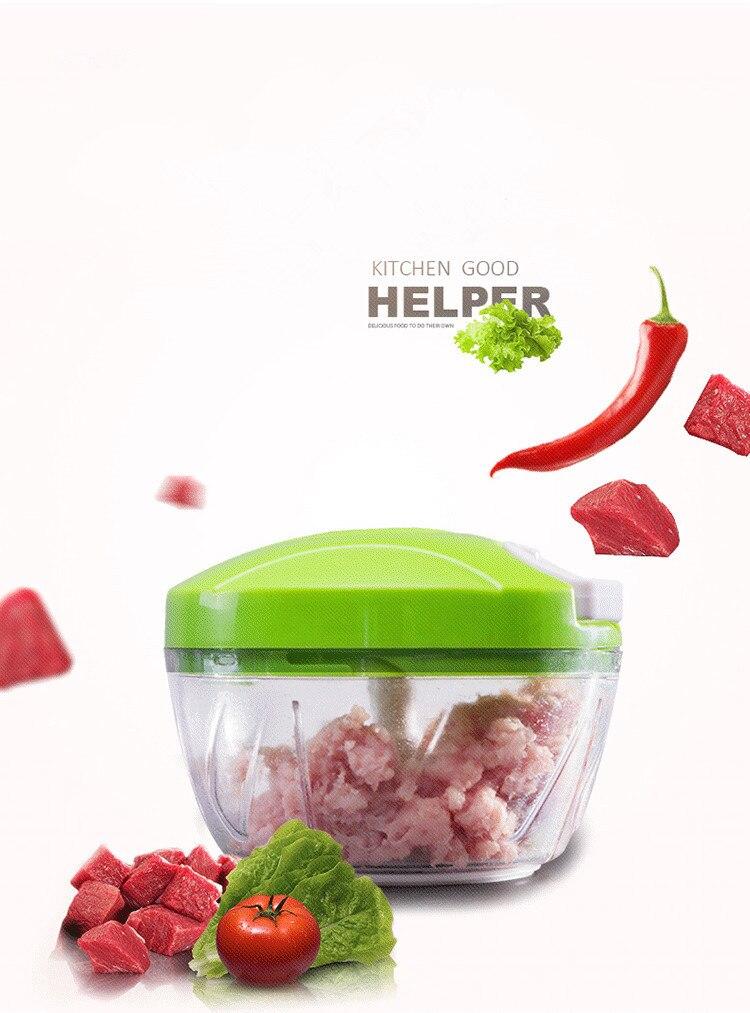 1PC New Kitchen Tools Onion Vegetable Chopper Multifunctional Hand Speedy Chopper Vegetable Fruits Chopped Shredder OK 0303