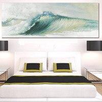 Абстрактные Волны Океана Морской канва картины традиционные Книги по искусству декорации обои современные настенные картины плакат для Го