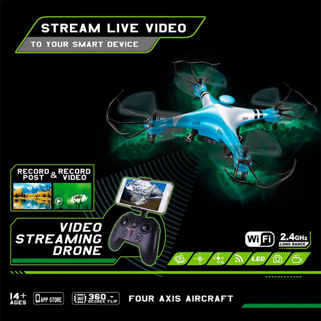Profesión X52W Drones Quadcopter 2.4g 6-axis Rc Helicóptero Drone con FPV Cámara HD Wifi puede Controlar la altura