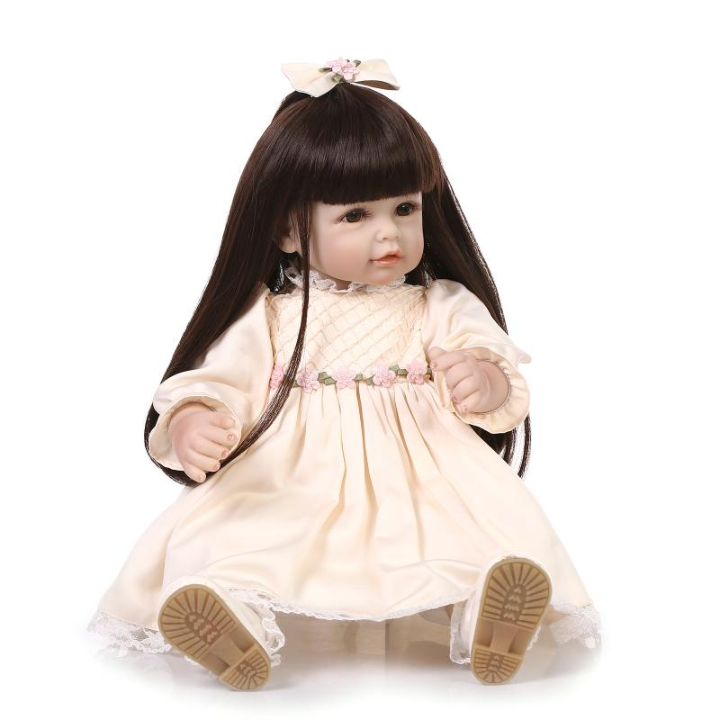20 inch 50cm  baby reborn Silicone dolls, lifelike doll reborn babies toys for girl princess gift brinquedos  Children's toys! hot sale toys 45cm pelucia hello kitty dolls toys for children girl gift baby toys plush classic toys brinquedos valentine gifts
