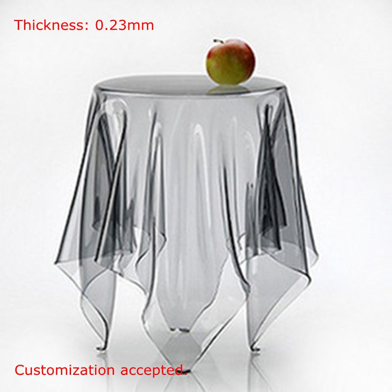 SM 0 23mm Multi Sizes Customization Made Soft Glass Transparent Waterproof Oilproof PVC Tablecloths Table Cover