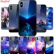 Luxury Glass Case For iPhone 6s 6 s 7 8 Plus Tempered Back Cover XS MAX XR X S TPU Frame Coque Funda