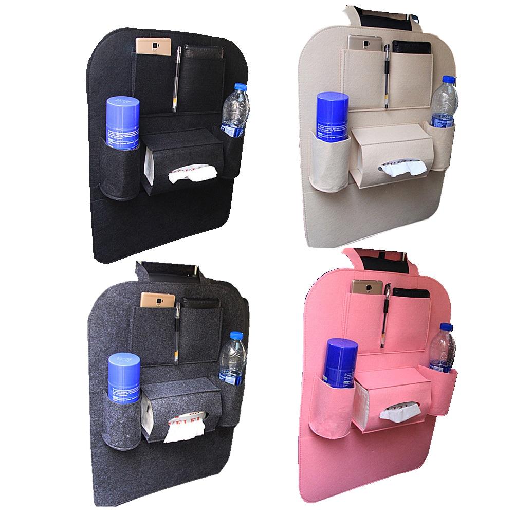 Multifunction Vehicle Accessories Bag Car Backseat Organizer Car-Styling Holder Multi-Pocket Seat Felt Storage Car Organizator