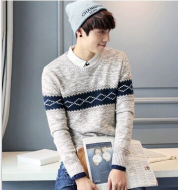 2017 Autumn And Winter New Couple Men Sweater Sleeve Head Men's Sweater Long Sleeved