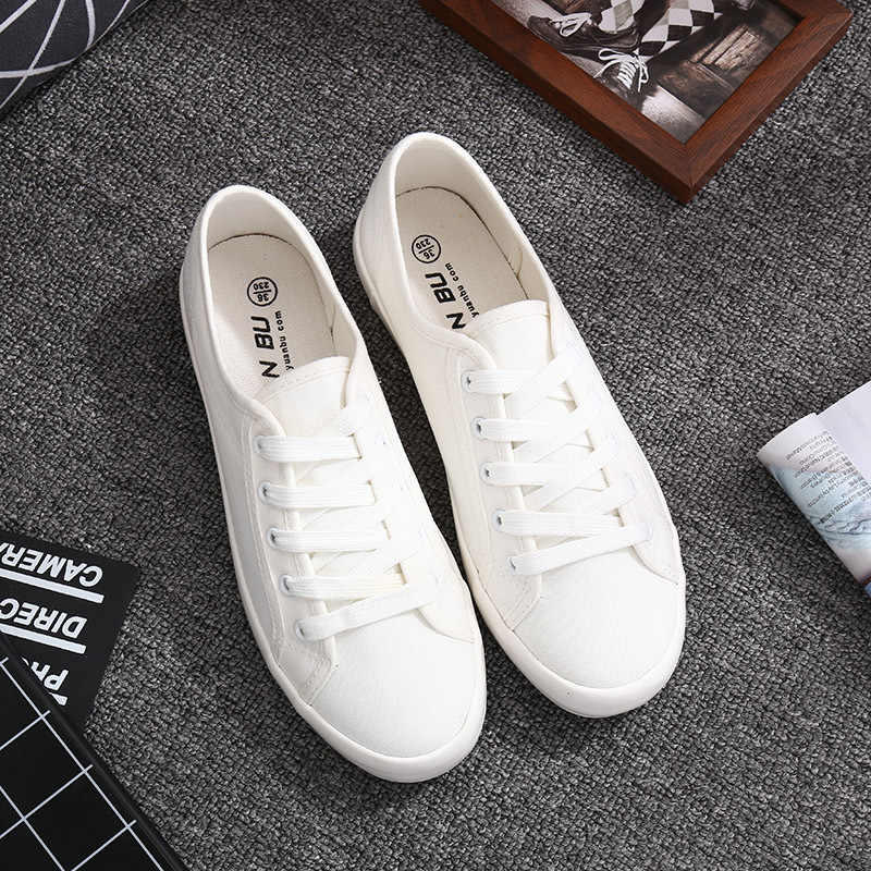 1a9b432c4ac Detail Feedback Questions about Classic White Sneakers Women Casual Canvas  Shoes Female Summer Lace Up Flat Trainers Fashion zapatillas mujer  Vulcanize ...