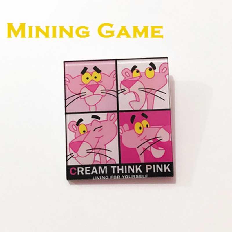 Kartun Pink Panther Pin Bros Lencana Mainan untuk Ransel Pakaian Ikon Di Ransel Perlengkapan Dekorasi Pesta Anak Seperti Teman Hadiah
