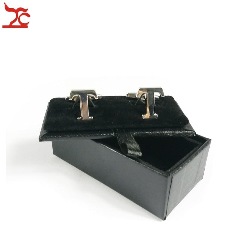 Free Shipping High Quality 60Pcs Mens Luxury Leather Cufflinks Storage Organizer Gift Box Case Black CuffLink