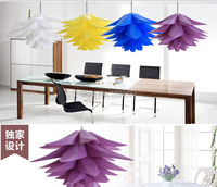 Wholesale DIY Modern Pinecone Pendant Light Creative Lily Lotus Novel Led E27 Iq Puzzle Lamp White