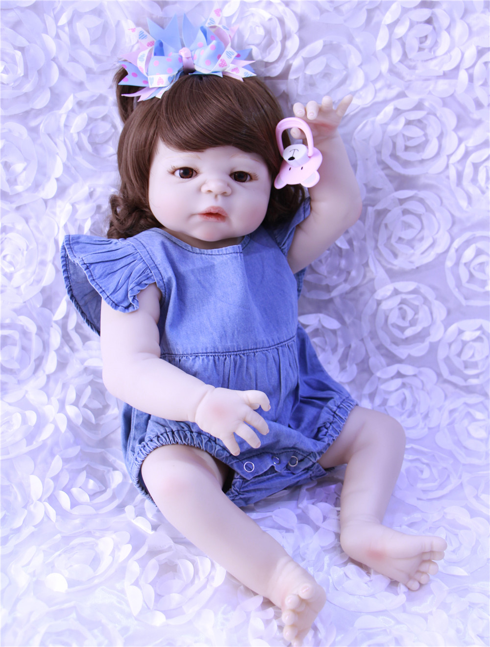 2255cm bebe gift doll reborn full Silicone Reborn babies With Dressed in Nice clothes Lifelike newborn babies girls toys2255cm bebe gift doll reborn full Silicone Reborn babies With Dressed in Nice clothes Lifelike newborn babies girls toys