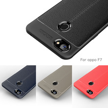 Carbon Fiber Case For OPPO F7 Case / OPPO F 7 Case Soft Cover For OPPO F7 Phone Coque Fundas Etui Capa Luxury Litchi Leather цена и фото