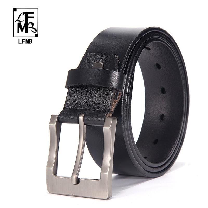[LFMB] Leather Belt Men Male Genuine Leather Strap Designer Belts For Men Genuine Leather Belt Men Ceinture Homme Cuir Veritable