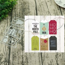 Label Metal cutting Dies Greeting Cards Scrapbooking Die Stamp DIY Scrapbooking Card Photo Decoration Supplies