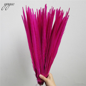 Image 4 - YOYUE 100 個レッドナチュラルキジの尾羽 16 18 インチ 40 45 センチメートル高品質 Diy のジュエリー結婚式の装飾キジの羽