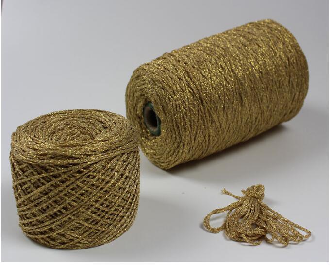 TPRPYN 1Pc=50g Yarn For Knitting& Crocheting Matethreads DIY Yarns Crochet Metallic + Cotton Metallized Thread Hand Knitting